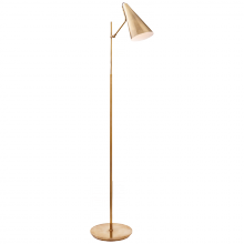 Visual Comfort ARN 1010HAB-HAB - Clemente Floor Lamp in Hand-Rubbed Antique Brass