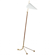 Visual Comfort ARN 1014HAB-WHT - Moresby Floor Lamp in Hand-Rubbed Antique Brass