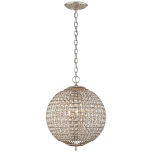 Visual Comfort ARN 5100BSL-CG - Renwick Small Sphere Chandelier in Burnished Sil