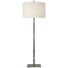 Visual Comfort BBL 1030PWT-L - Lyric Branch Floor Lamp in Pewter with Linen Sha