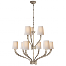 Visual Comfort CHC 2465AN-NP - Ruhlmann 2-Tier Chandelier in Antique Nickel wit