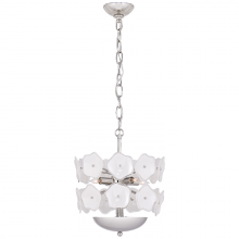 Visual Comfort KS 5065PN-CRE - Leighton Small Chandelier in Polished Nickel wit