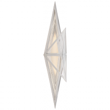 Visual Comfort KW 2654PN-CLG - Ori Tall Sconce in Polished Nickel with Clear Li