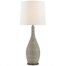Visual Comfort KW 3034ICP-L - Sonara Table Lamp in Ivory and Chalk Black Pearl