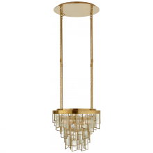 Visual Comfort KW 5801AB-FRG - Ardent Small Waterfall Chandelier in Antique-Bur