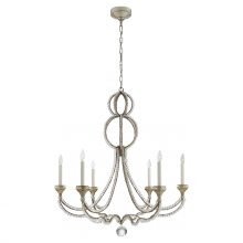 Visual Comfort NW 5031VS - Milan Large Chandelier in Venetian Silver with C