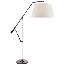 Visual Comfort RL 1151BLK-P - Nolan Loft Floor Lamp in Black Nickel with Perca