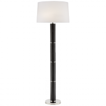Visual Comfort RL 1470BCR-S - Upper Fifth Floor Lamp in Black Faux Croc and Po