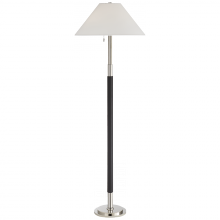Visual Comfort RL 1491PN/CHC-P - Garner Floor Lamp in Polished Nickel and Chocola