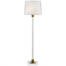 Visual Comfort RL 1940CG/NB-P - Varick Floor Lamp in Crystal and Natural Brass w