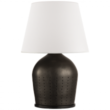 Visual Comfort RL 3634BLK-WP - Halifax Large Table Lamp in Black Ceramic with W