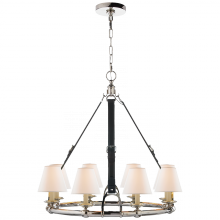 Visual Comfort RL 5181PN-L - Westbury Chandelier in Polished Nickel and Choco