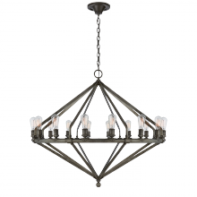 Visual Comfort RL 5197IS - Archer Extra Large Chandelier in Industrial Stee