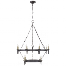 Visual Comfort RL 5752AI - Branson Medium Two-Tiered Ring Torch Chandelier