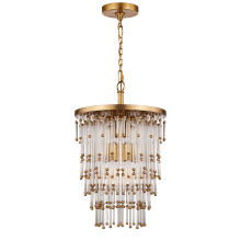 Visual Comfort SR 5110HAB-CG - Mia Small Chandelier in Clear Glass