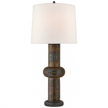 Visual Comfort TOB 3680CBZ-L - Bibi Large Table Lamp in Crystal Bronze with Lin