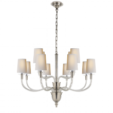 Visual Comfort TOB 5033PN-NP - Vivian Large Two-Tier Chandelier in Polished Nic